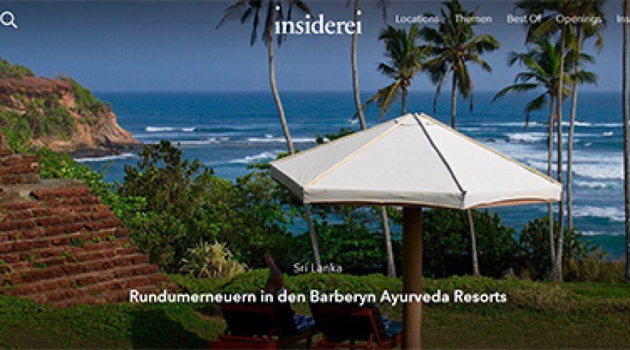 Insiderei: Rundumerneuern in den Barberyn Ayurveda Resorts