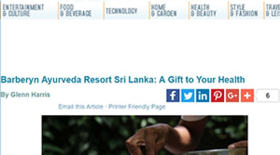 Splash Magazine: Barberyn Ayurveda Resort, Sri Lanka: A gift to your healt