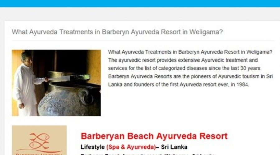 APP N WELLNESS: What Ayurveda treatments in Barberyn Ayurveda Resort in Weligama