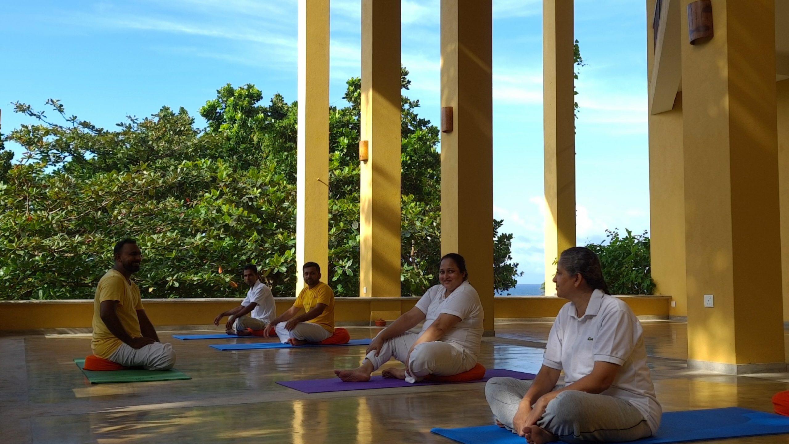 Barberyn Staff Yoga Class
