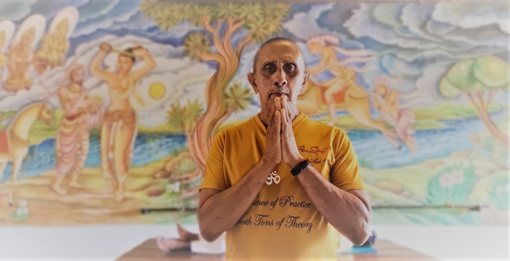 Introduction to Yoga Asana Class with Sivananda Yoga Instructor at Barberyn Ayurveda Resorts. Yoga Asana Class for Zoom Webinar during lockdown